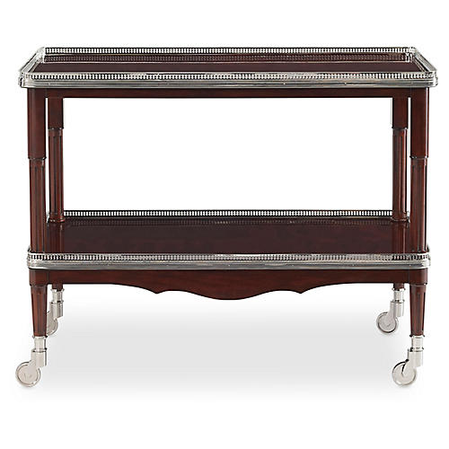One Fifth Bar Cart, Estate Mahogany