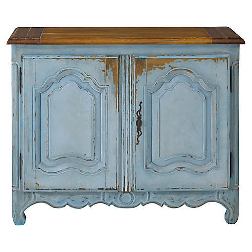 Painted Cabinet, Versailles Blue