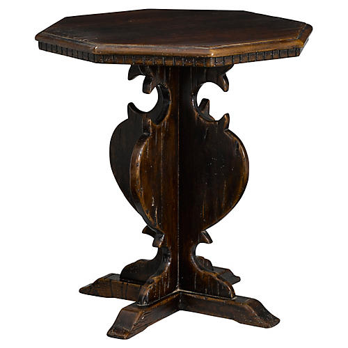 Walnut Side Table, Antiqued Walnut