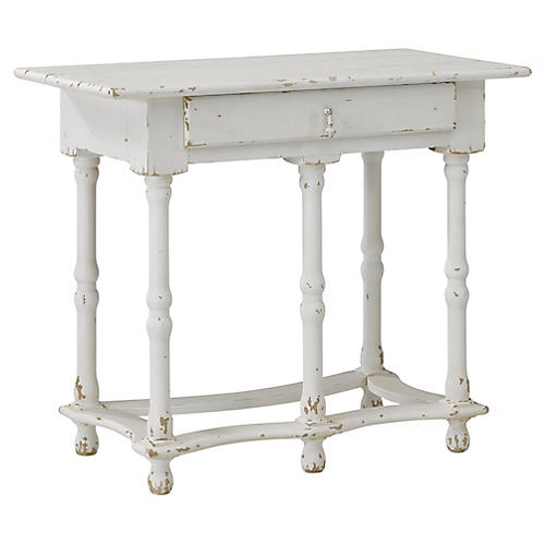 William and Mary Side Table, Gustavian White