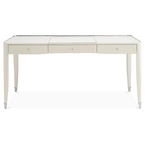One Fifth Paris Desk, Cream Lacquer