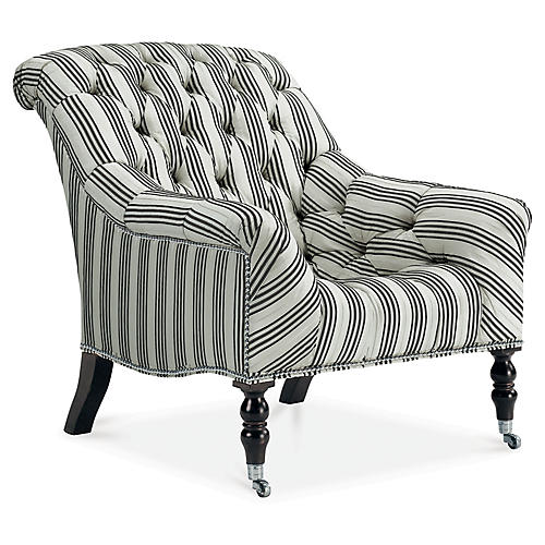 Mayfair Accent Chair, Pearl