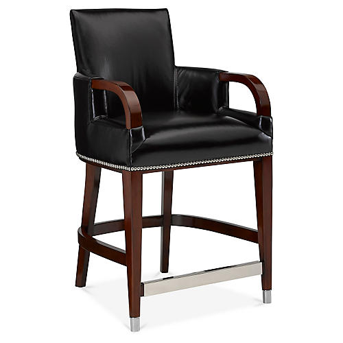 Brook Street Counter Stool, Night Leather