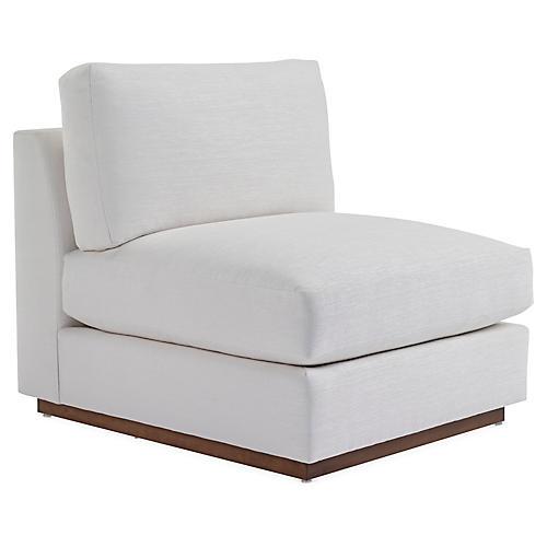 Desert Modern Accent Chair, Gesso Linen