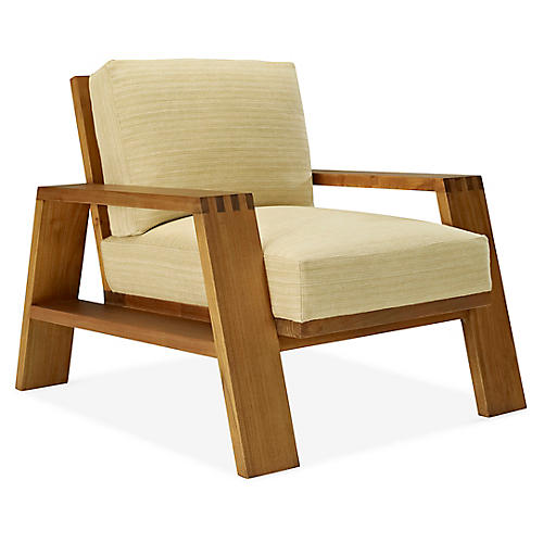 Desert Modern Club Chair, Wheat