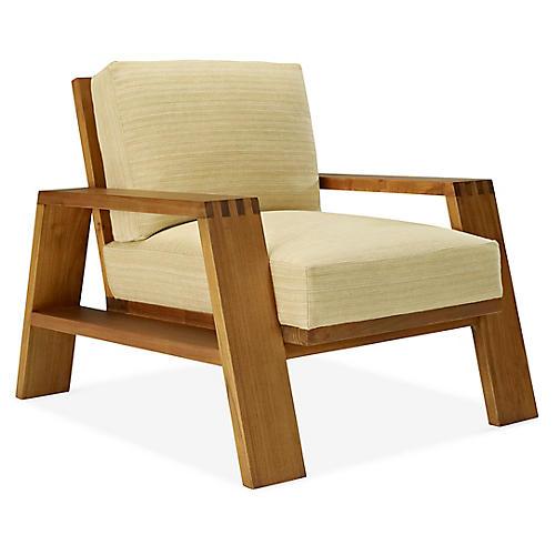 Desert Modern Club Chair, Wheat