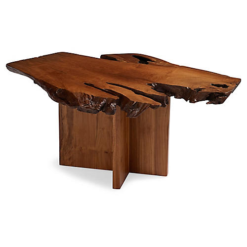 Slab Side Table, Teak