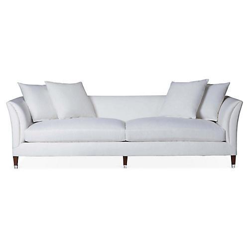 Atherton Sofa, Sunbleached White Linen