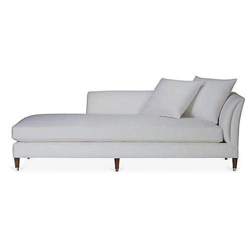 Atherton Right-Arm Chaise, Sunbleached White Linen