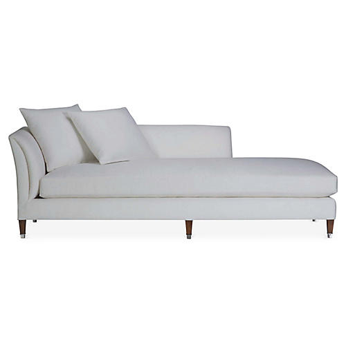 Atherton Left-Arm Chaise, Sunbleached White Linen