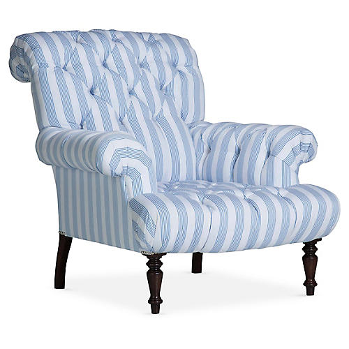 Tufted Club Chair, Delft