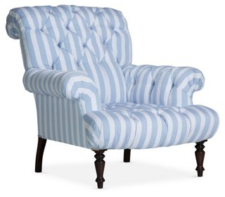 Tufted Club Chair, Delft   Club Chairs   Chairs   Living Room   Furniture |  One Kings Lane