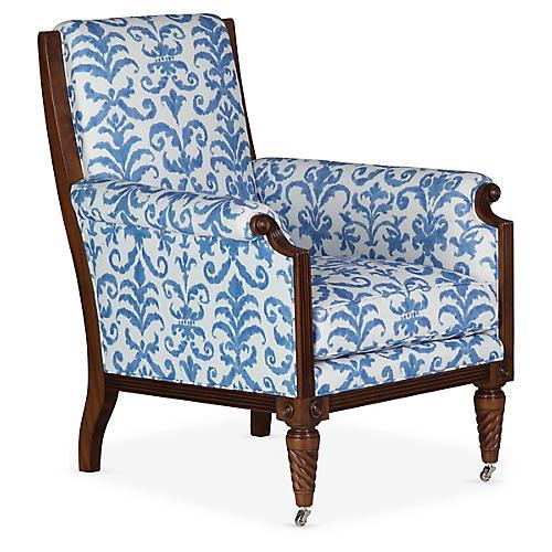Watch Hill Club Chair, Porcelain Linen