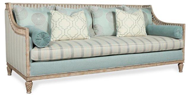 """Kinsley 87"""" Sofa, Sky Blue"""