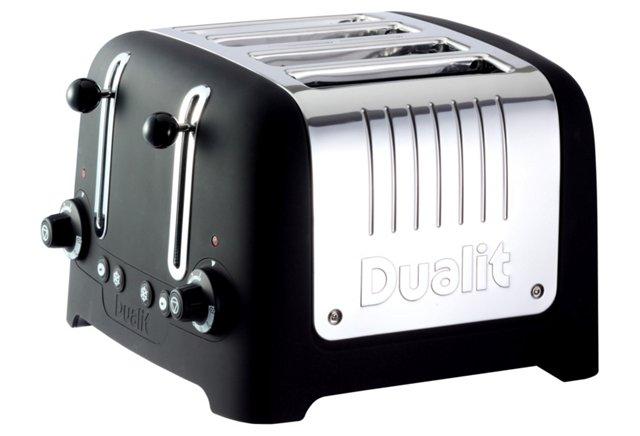 4-Slice Wide Toaster, Black