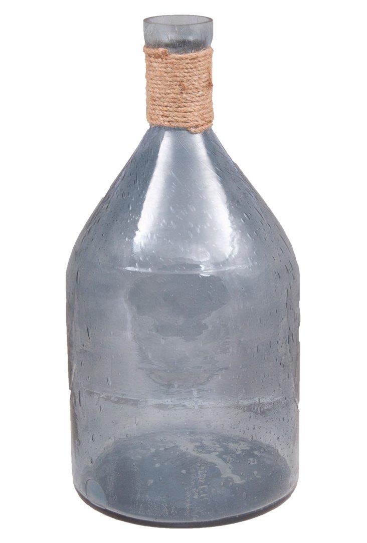 "17"" Seeded Bottle, Smoke"