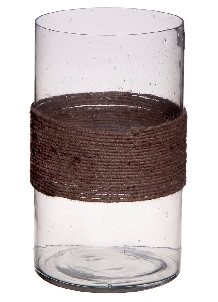 """6"""" Seeded Cylinder Votive, Clear"""