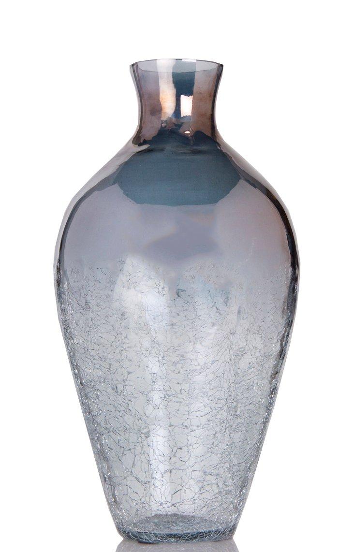 "15"" Smoke Crackled Vase"