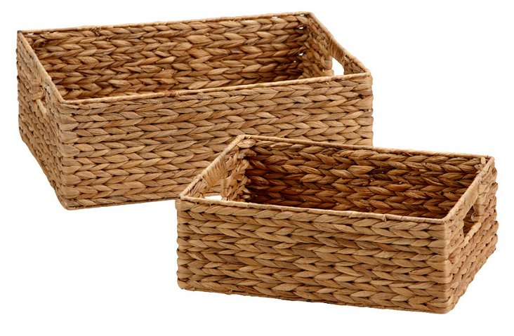 S/2 Assorted Square Baskets