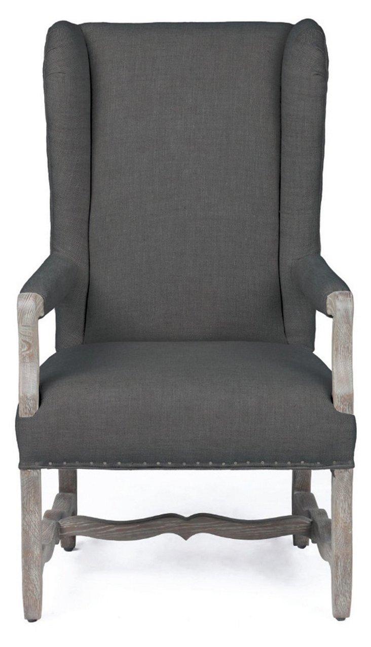 Clara Wingback Chair, Slate
