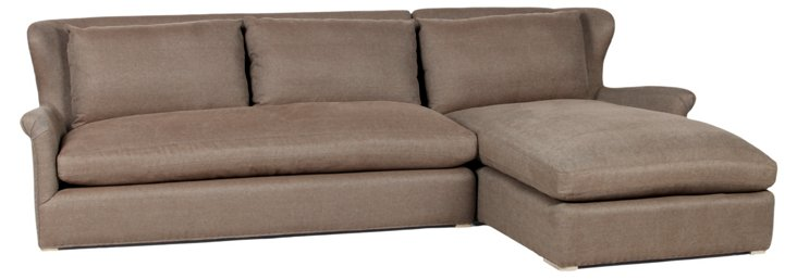 Elise Right-Facing Sectional, Cocoa