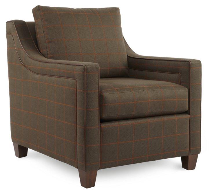 Aston Club Chair, Cocoa
