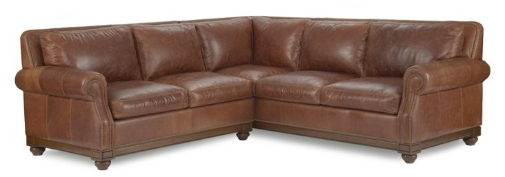 Royal Oaks Leather Sectional