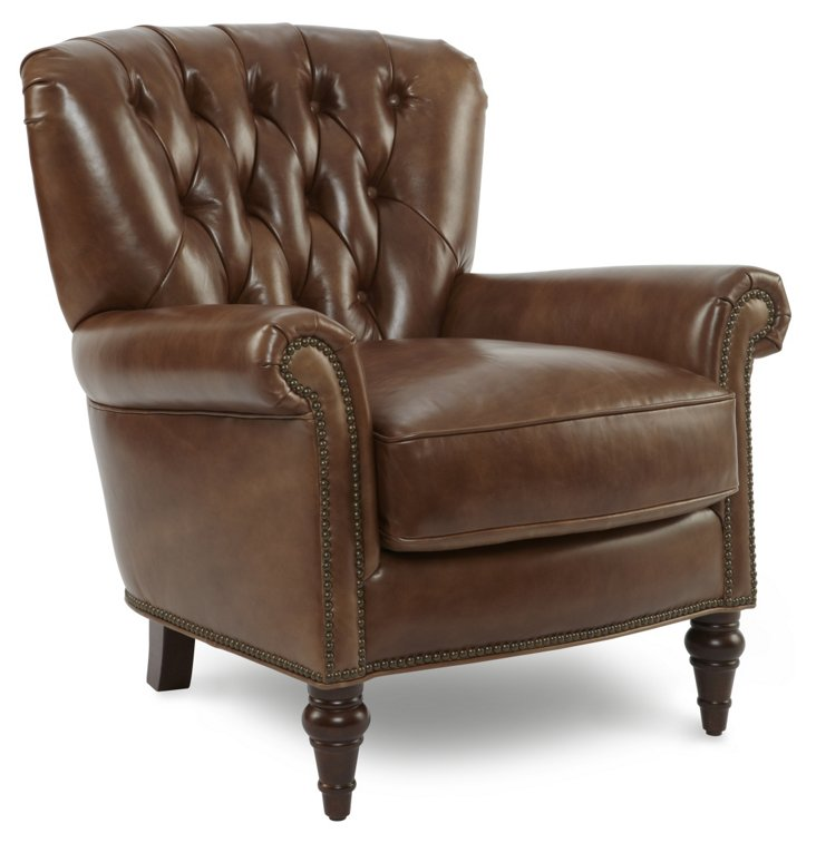 Brussels Leather Club Chair