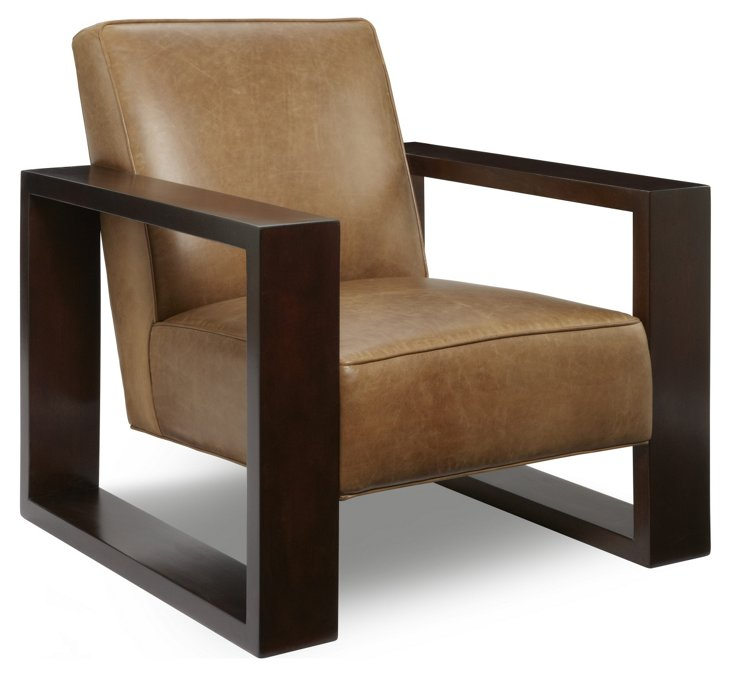 Roma Leather Chair, Cognac