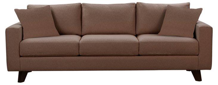 """Baxter 90"""" Sofa, Cocoa"""