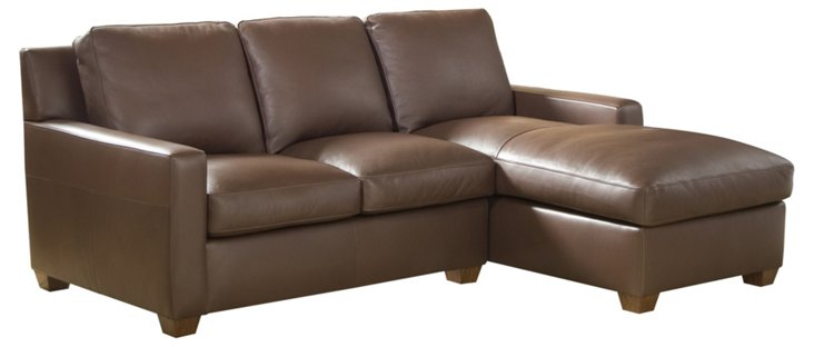 Manhattan Right-Facing Leather Sectional