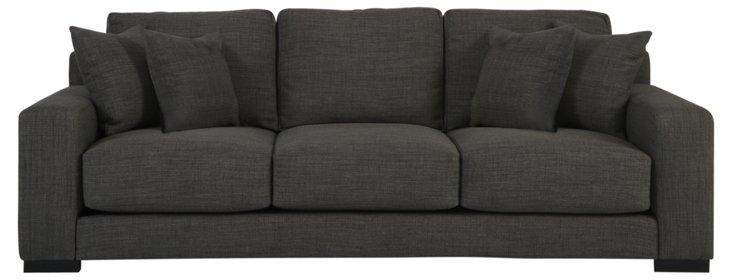 """Meridian 96"""" Sofa, Dark Gray"""