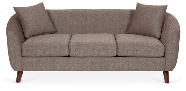 "Circa 82"" Tweed Sofa, Light Brown"