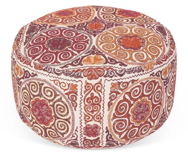 Candemir Pouf Ottoman, Raspberry