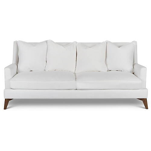 "Beverlywood 83"" Sofa, White"
