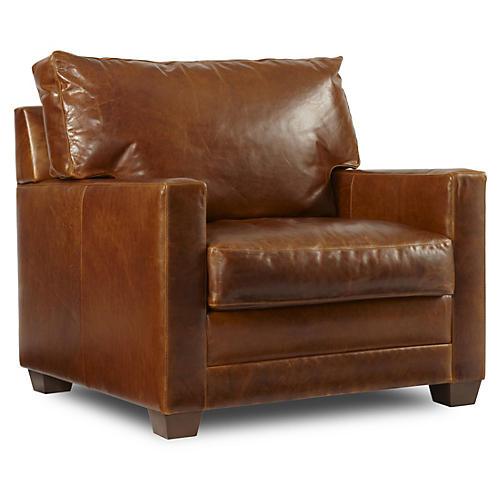 Lawson Leather Chair, Sienna