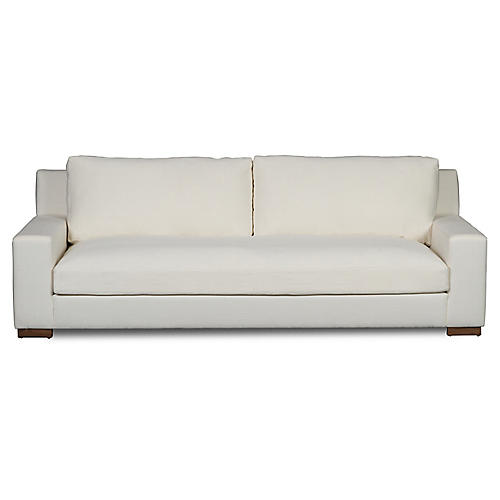 "Chamberlain 98"" Sofa, Bone Linen"