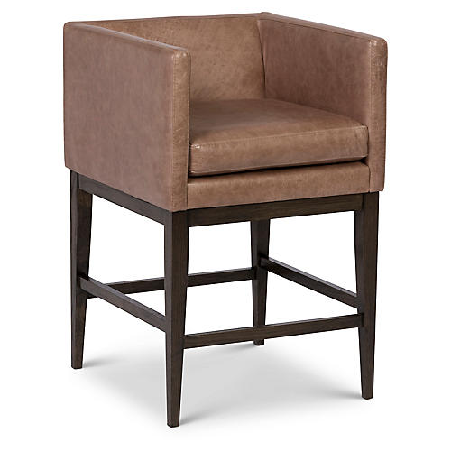 Finch Barstool, Pebble Leather Images