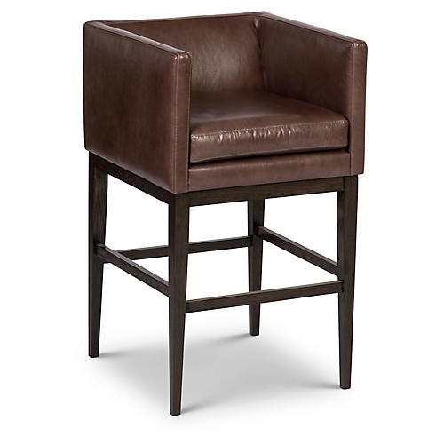 Finch Barstool, Storm Leather