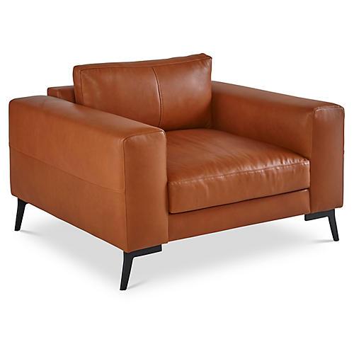 Wayfair Club Chair, Clay Leather