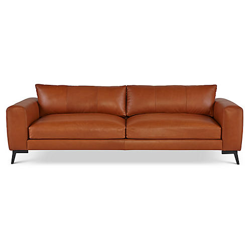 "Wayfair 98"" Sofa, Clay Leather"