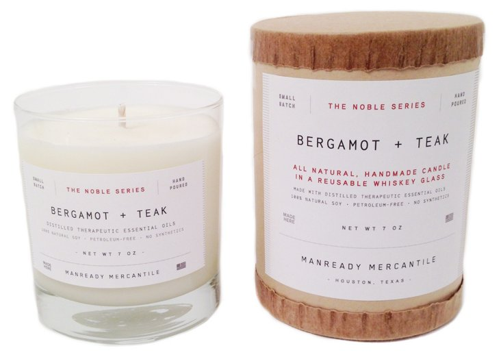 Noble Series Candle, Bergamot/Teak
