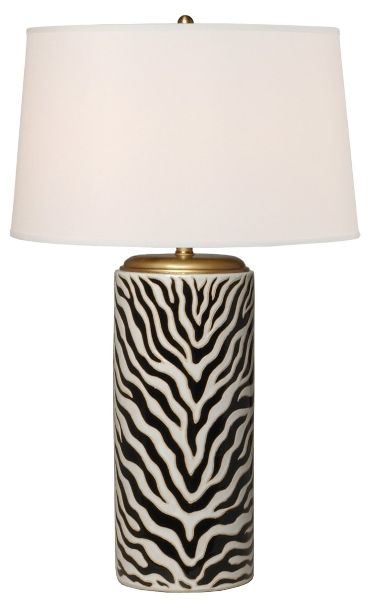 Umbrella Stand Table Lamp, Zebra