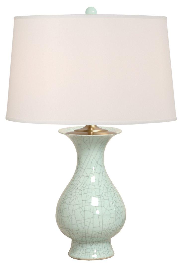 Baluster Vase Table Lamp, Celadon