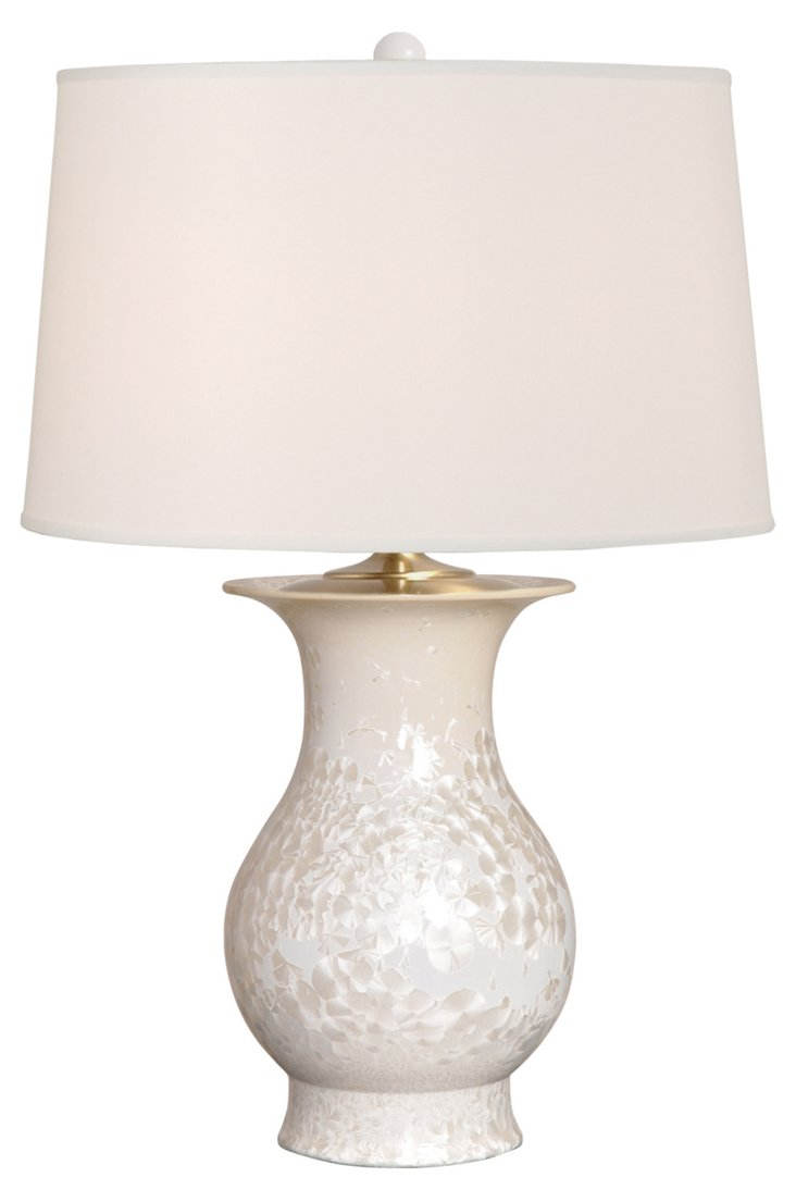 Baluster Vase Table Lamp, Crystal Taupe