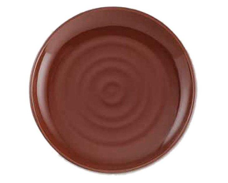 S/2 Clay Breakfast Plates, Brick