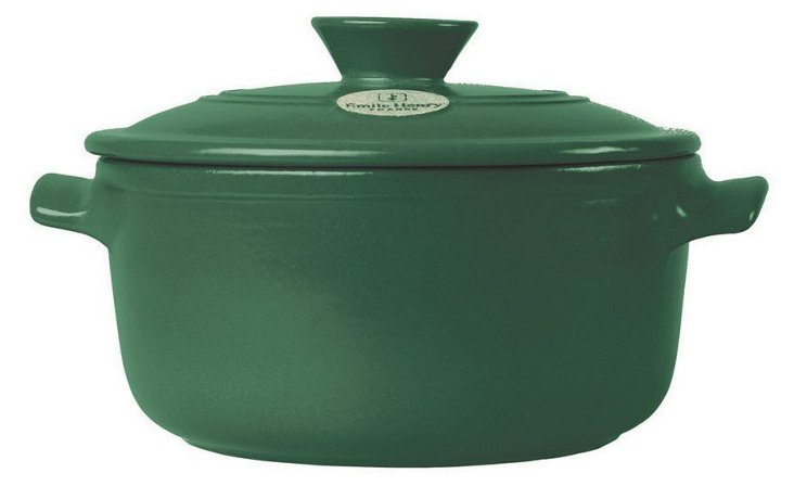 5.5 Qt Flame Round Stew Pot, Green