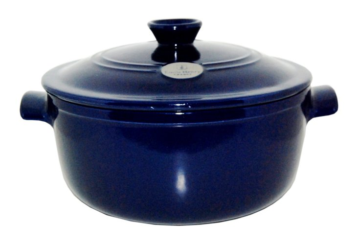 5.5 Qt Flame Round Stew Pot, Azure