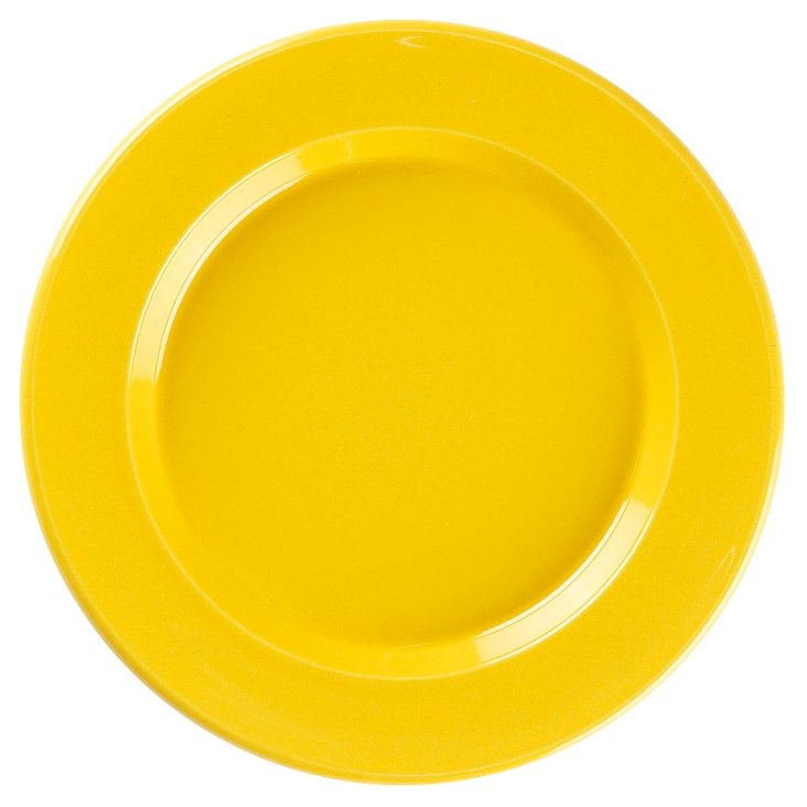 S/2 Ceramic Side Plates, Citron