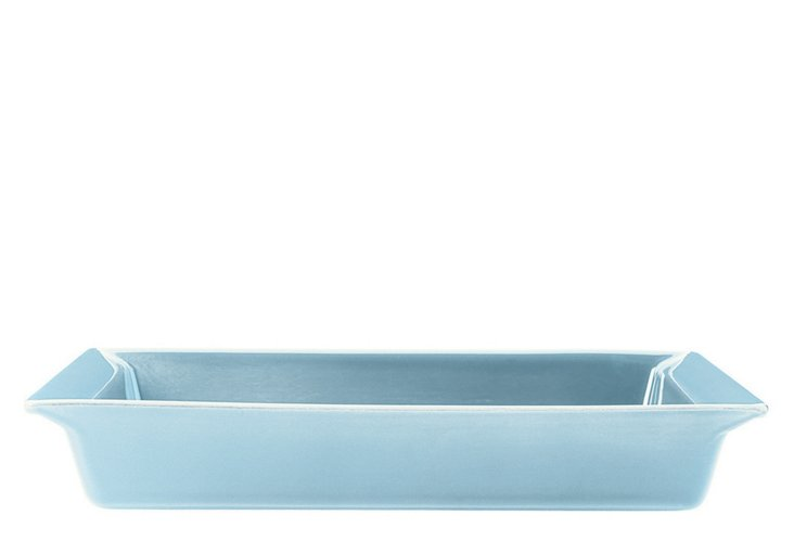 Sky Blue Rectangular Dish, Small